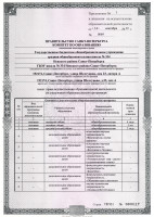 Приложение к лицензии на ведение образовательной деятельности. Лист 1